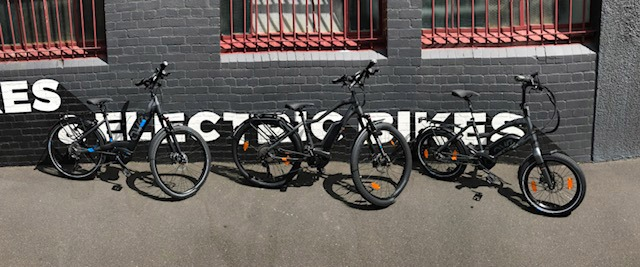 AVE Electric Bikes full range in our Melbourne Store.