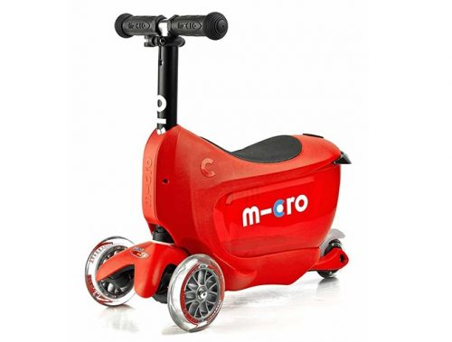 toddler micro mini2go deluxe red scooter white brake MMD032