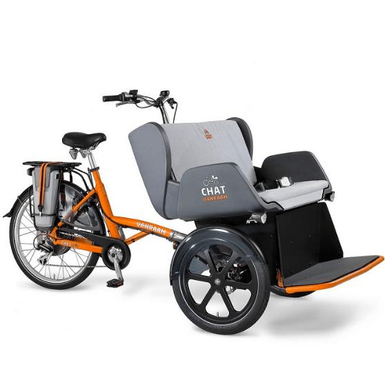 Chat Rickshaw Transport Bike Van Raam without orange cap