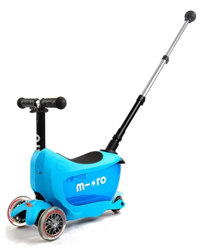blue toddler mini2go deluxe ride on micro scooter blue MMD034
