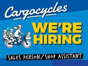 We're Hiring Sales Person/Shop Assistant job at Cargocycles Melbourne