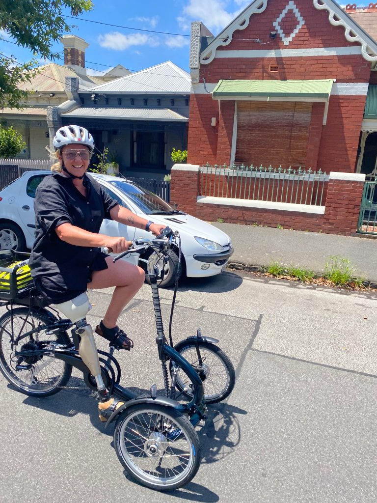 Electric bike for riders with disability